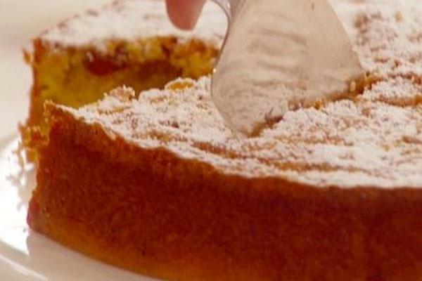 Arándano y torta de Maíz